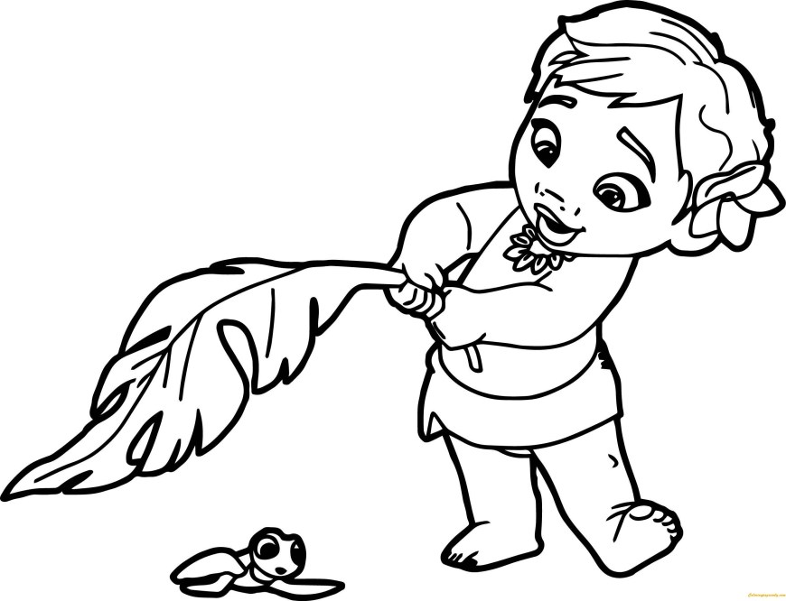 Moana Coloring Pages Pdf Moana Coloring Pages To Print At Getdrawings Free For Personal