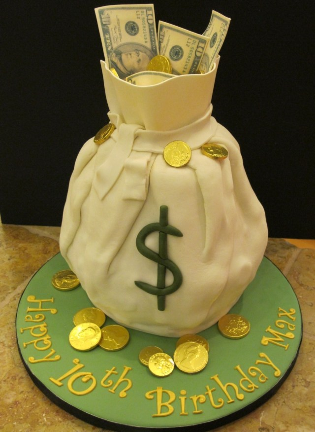 Money Birthday Cake Maxs Birthday Money Cake Cakecentral