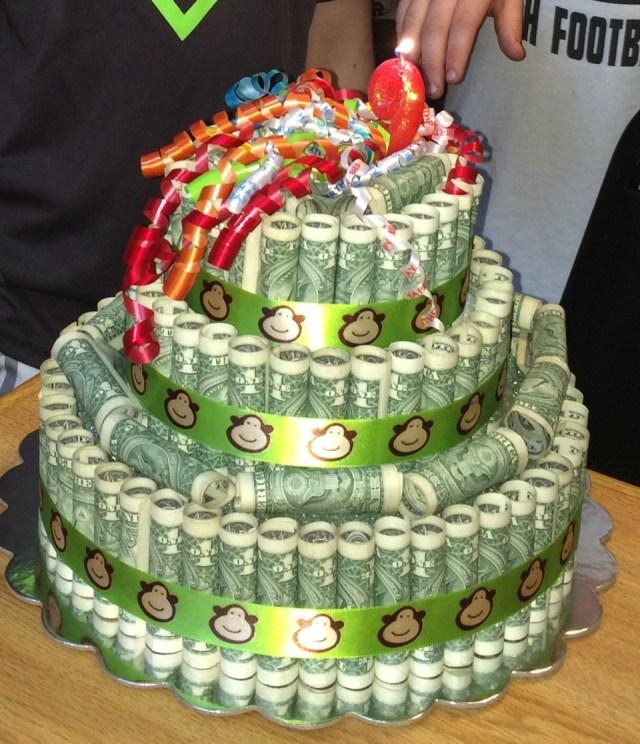 Money Birthday Cake Musely