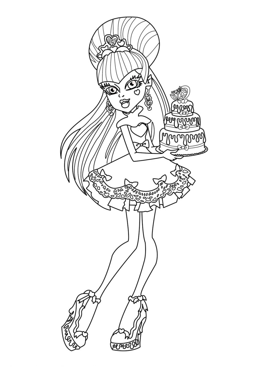 Monster High Coloring Pages Printable Monster High Coloring Book Coloring Pages For Kids