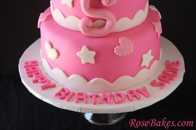 Name On Birthday Cake Hello Kitty Birthday Cake Bottom Name On Board Rose Bakes