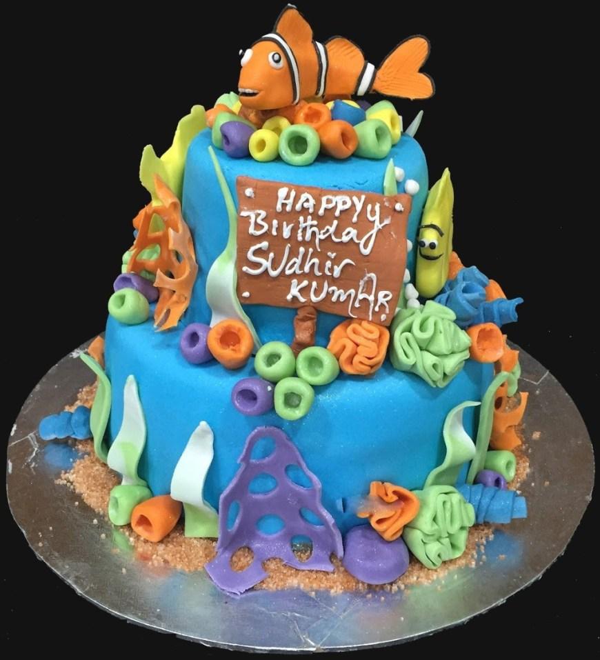 Nemo Birthday Cake Buy Nemo Birthday Cake For Girls Online At Best Prices From Guntur