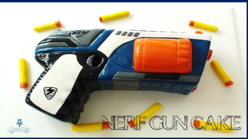 Nerf Birthday Cake How To Make A Nerf Gun Cake From Creative Cakes Sharon Youtube