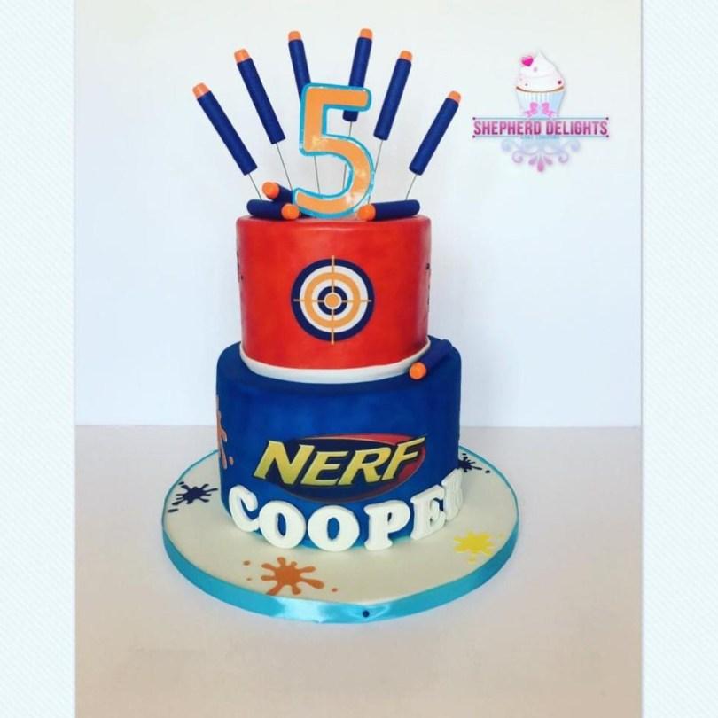 Nerf Birthday Cake Nerf Birthday Cake Birthday Cakes Cakes For Children