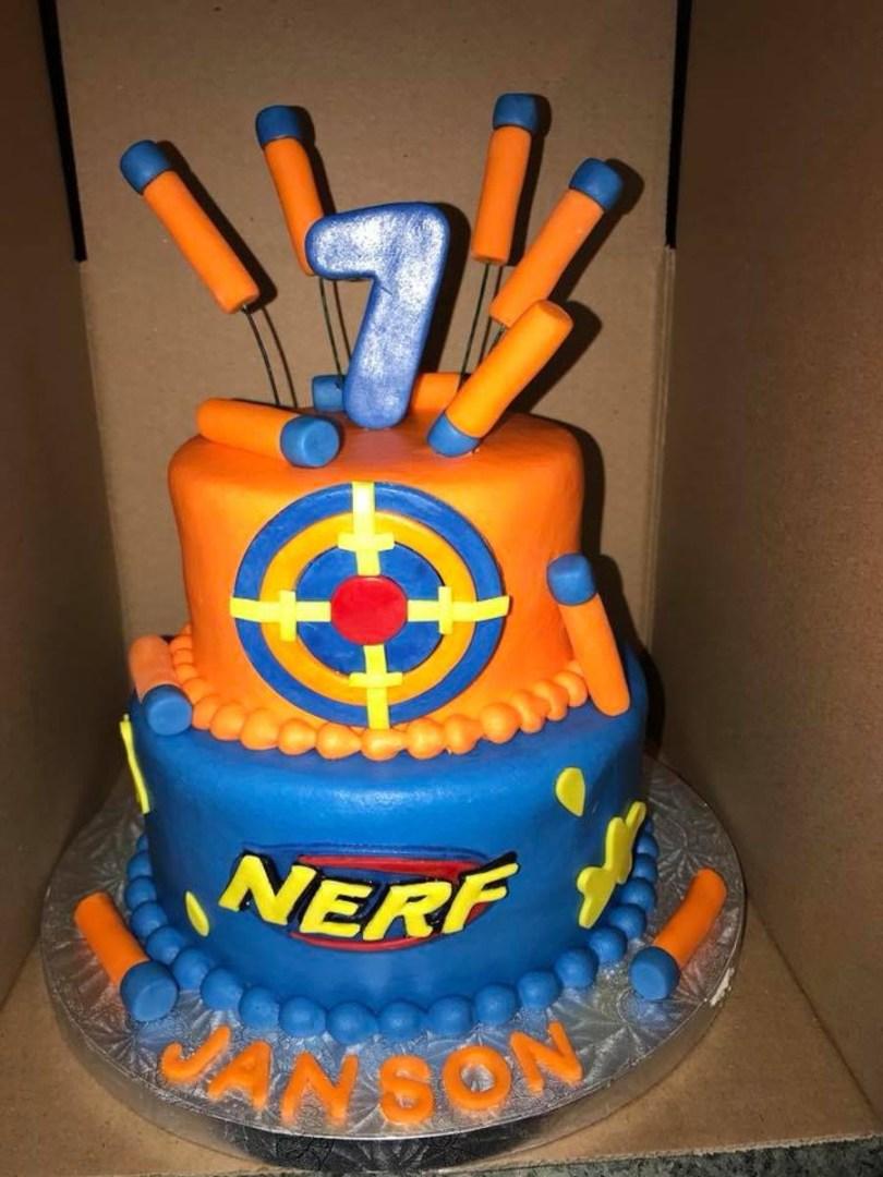 Nerf Birthday Cake Nerf Birthday Cake Cakecentral