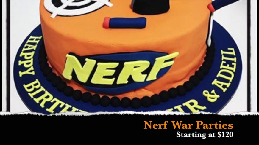 Nerf Birthday Cake Nerf War Party Youtube