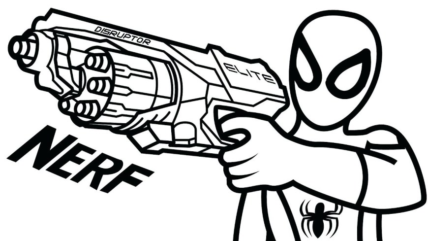 Nerf Gun Coloring Pages Nerf Gun Drawing At Getdrawings Free For Personal Use Nerf Gun