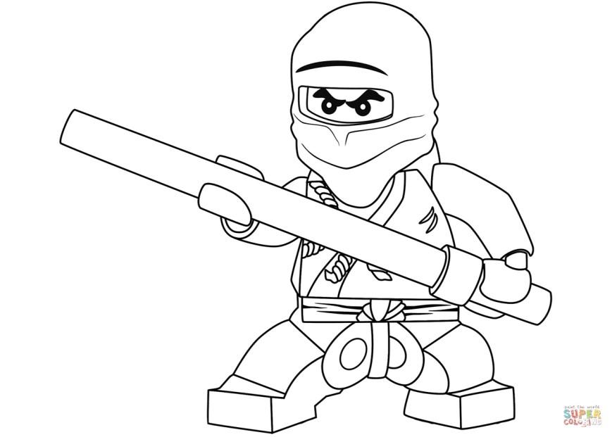 Ninja Coloring Page Lego Ninjago Cole The Black Ninja Coloring Page Free Printable