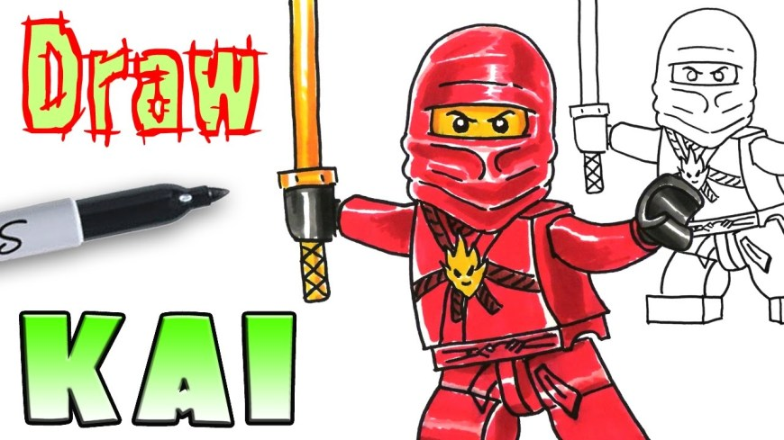 Ninjago Coloring Pages How To Draw Ninjago Kai Lego Coloring Pages Youtube