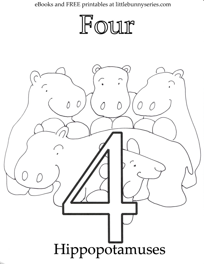 Number 1 Coloring Page Coloring Pages Little Bunny Series