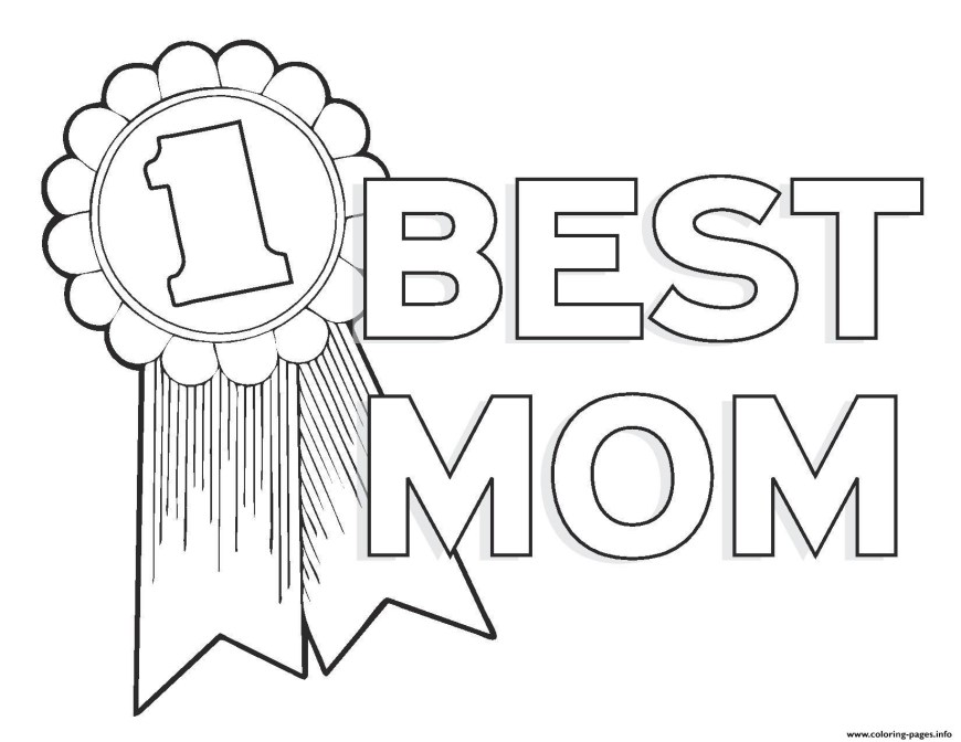 Number 1 Coloring Page Worlds Best Mom Mothers Day Best Mom Number 1 Coloring Pages Printable