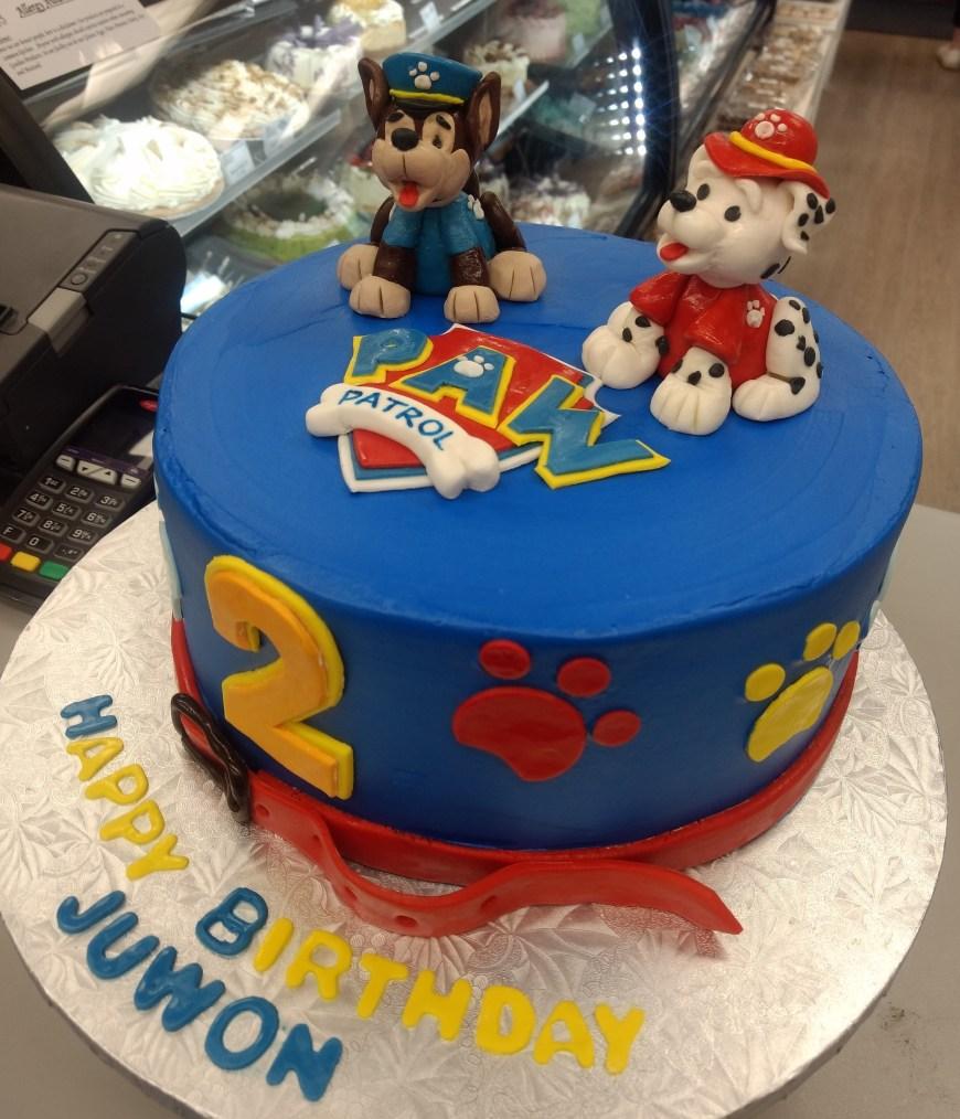 Paw Patrol Birthday Cake Ideas Blue Paw Patrol Birthday Cake Goodies Bakery Winnipeg