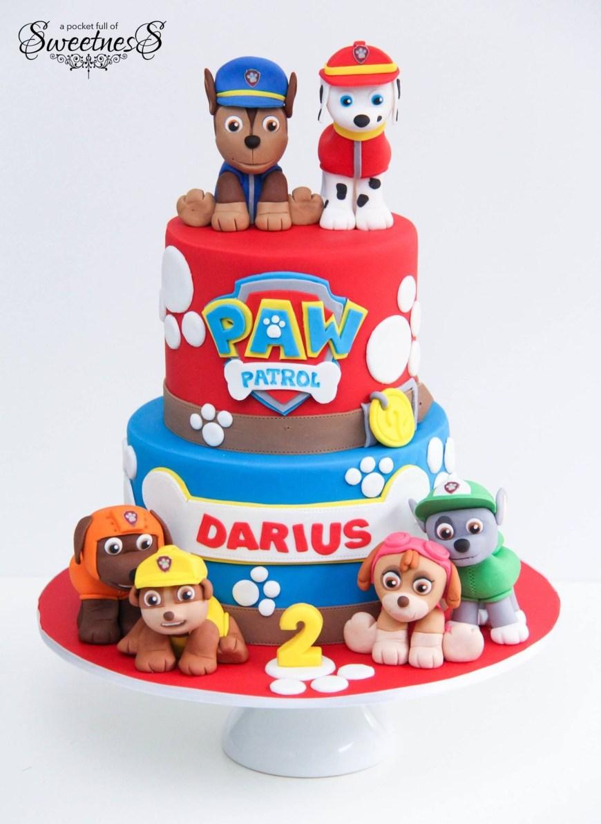 Paw Patrol Birthday Cake Ideas Happy 2nd Birthday To Darius A Pocket Full Of Sweetness