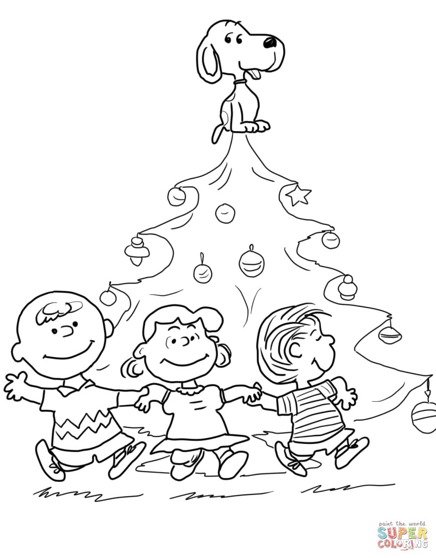 Peanuts Coloring Pages Charlie Brown Christmas Tree Coloring Page Peanuts Pages