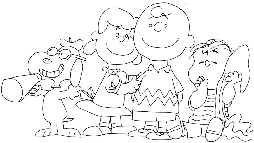 Peanuts Coloring Pages Charlie Brown Color Pages And Snoopy Peanuts Coloring Page 542163