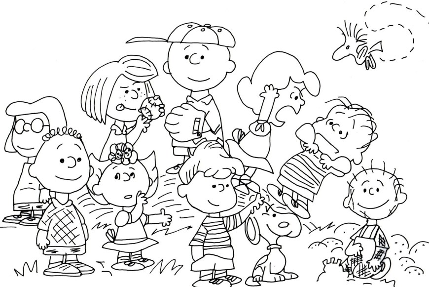 Peanuts Coloring Pages Free Coloring Pages Peanuts Coloring Pages
