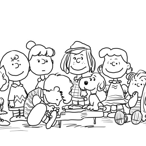 Peanuts Coloring Pages Peanuts Characters Coloring Page Free Printable Coloring Pages
