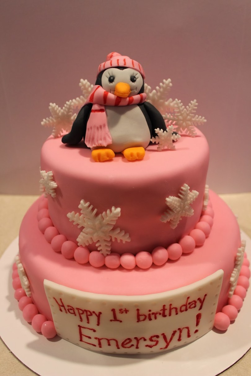 Penguin Birthday Cake Cake It From Me Penguinsnowflake Birthday Cake