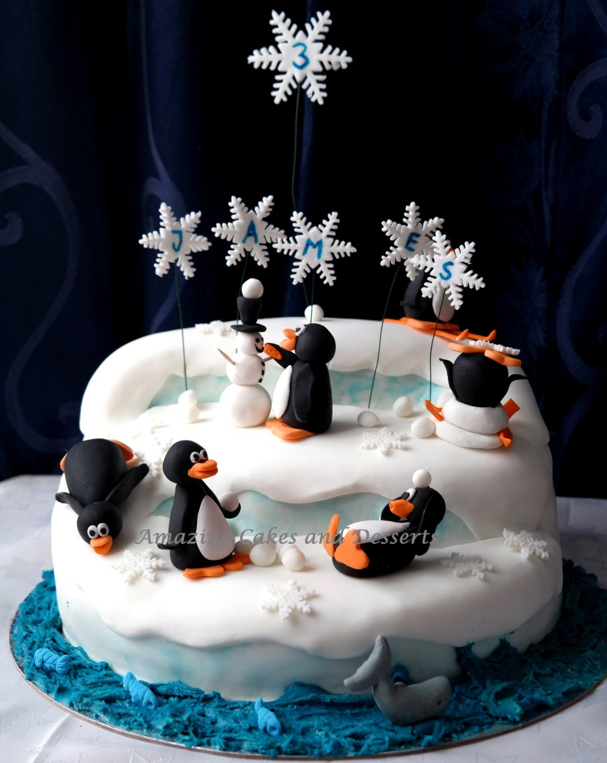 Penguin Birthday Cake Penguin Cake Amazing Cakes And Desserts