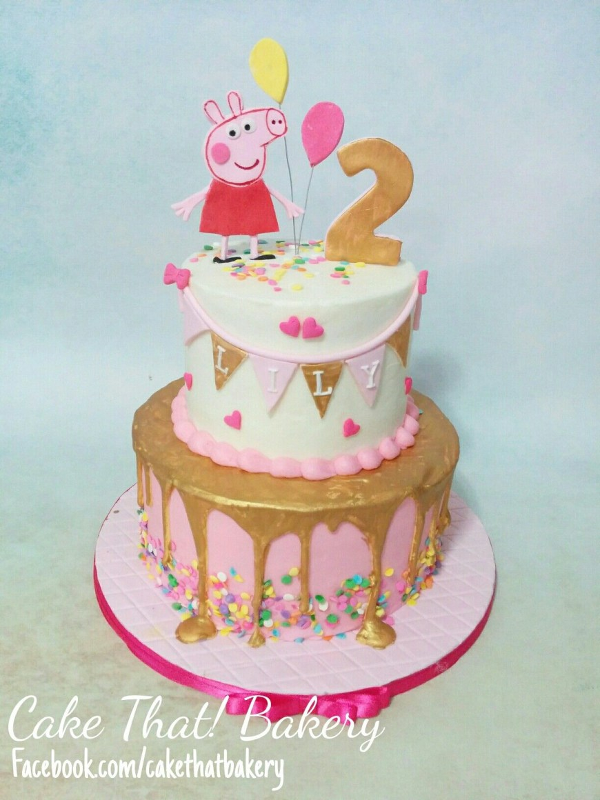Peppa Pig Birthday Cakes Pink And Gold Peppa Pig Birthday Cake Cakes And Goodies