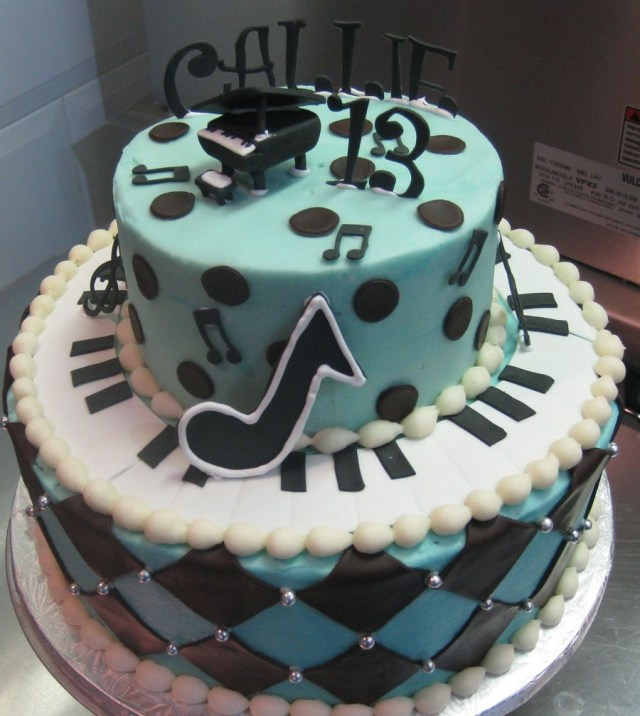 Piano Birthday Cake 13th Piano Themed Birthday Cake Cakecentral
