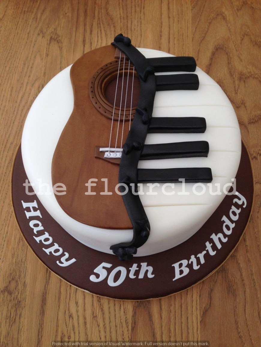 Piano Birthday Cake Musical Themed Birthday Cake Half Piano And Half Guitar Cakes