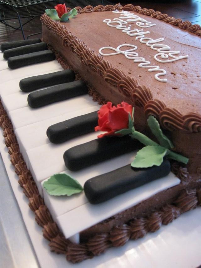 Piano Birthday Cake Piano Birthday Cakes