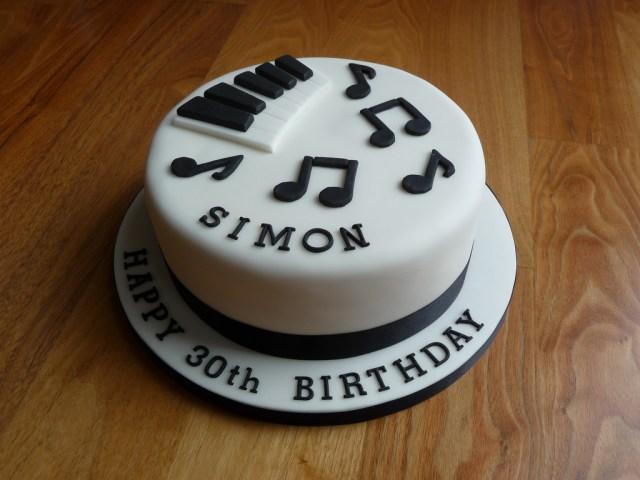 Piano Birthday Cake Piano Themed 30th Birthday Cake The Customer Wanted A Pian Flickr