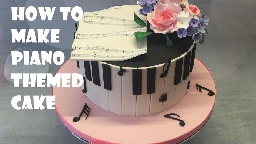 Piano Birthday Cake Piano Themed Cake Tutorial Youtube