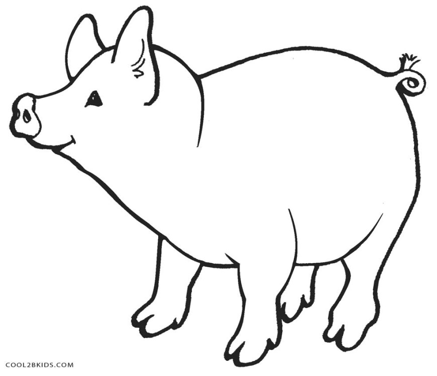 Pig Coloring Page Free Printable Pig Coloring Pages For Kids Cool2bkids