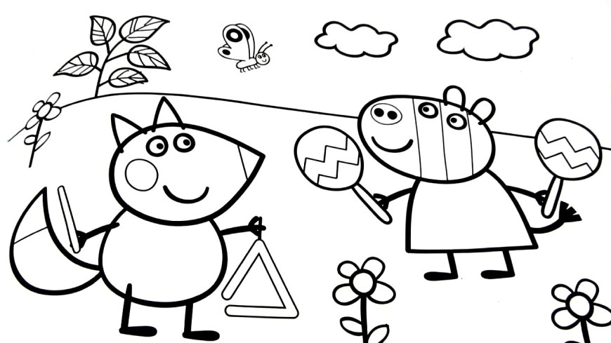 Pig Coloring Page Good Looking Peppa Pig Coloring Pages 15 Camping Printable Union