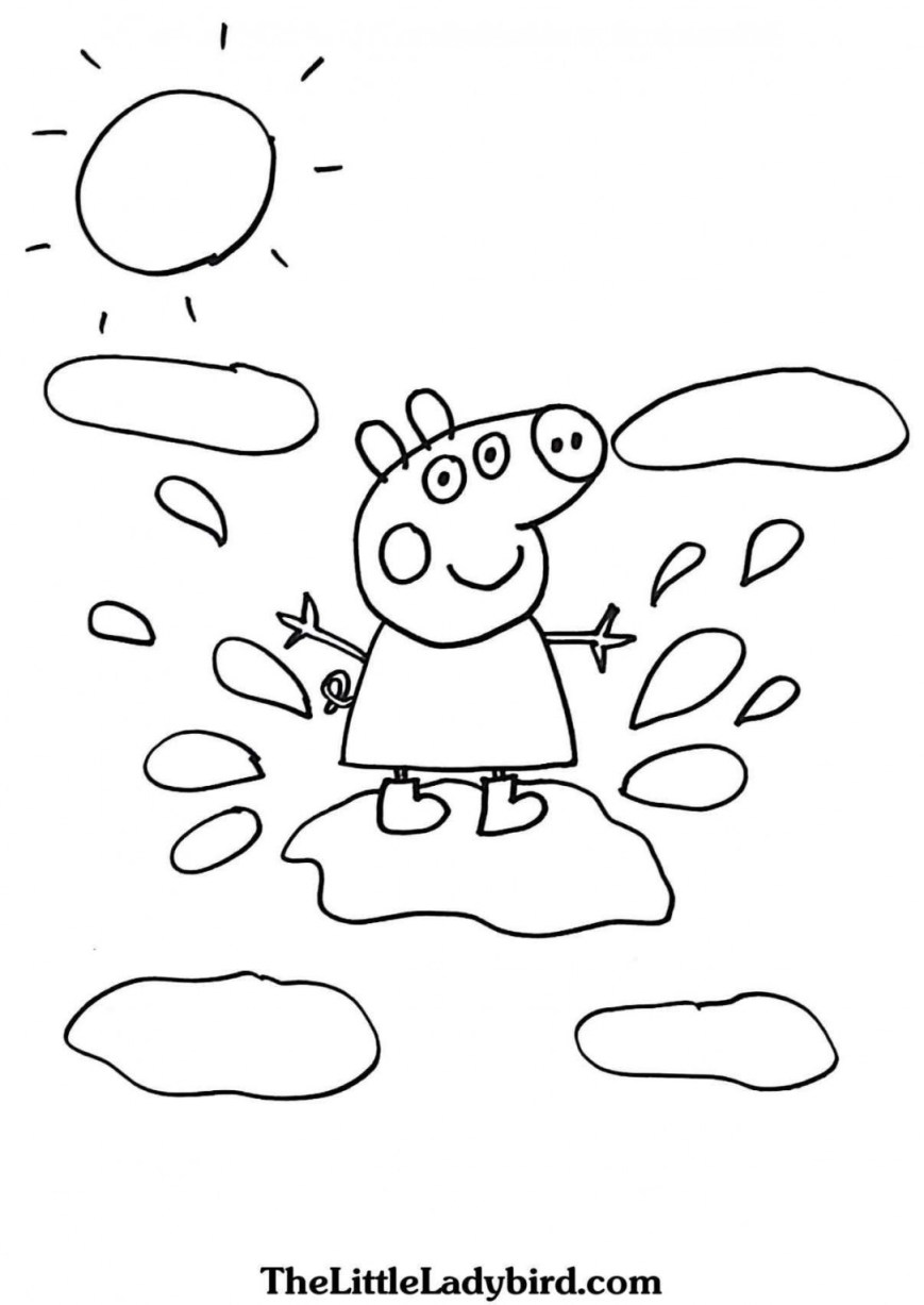 Pig Coloring Page Peppa Pig Coloring Page Best Collections Of Peppa Pig Coloring Pages