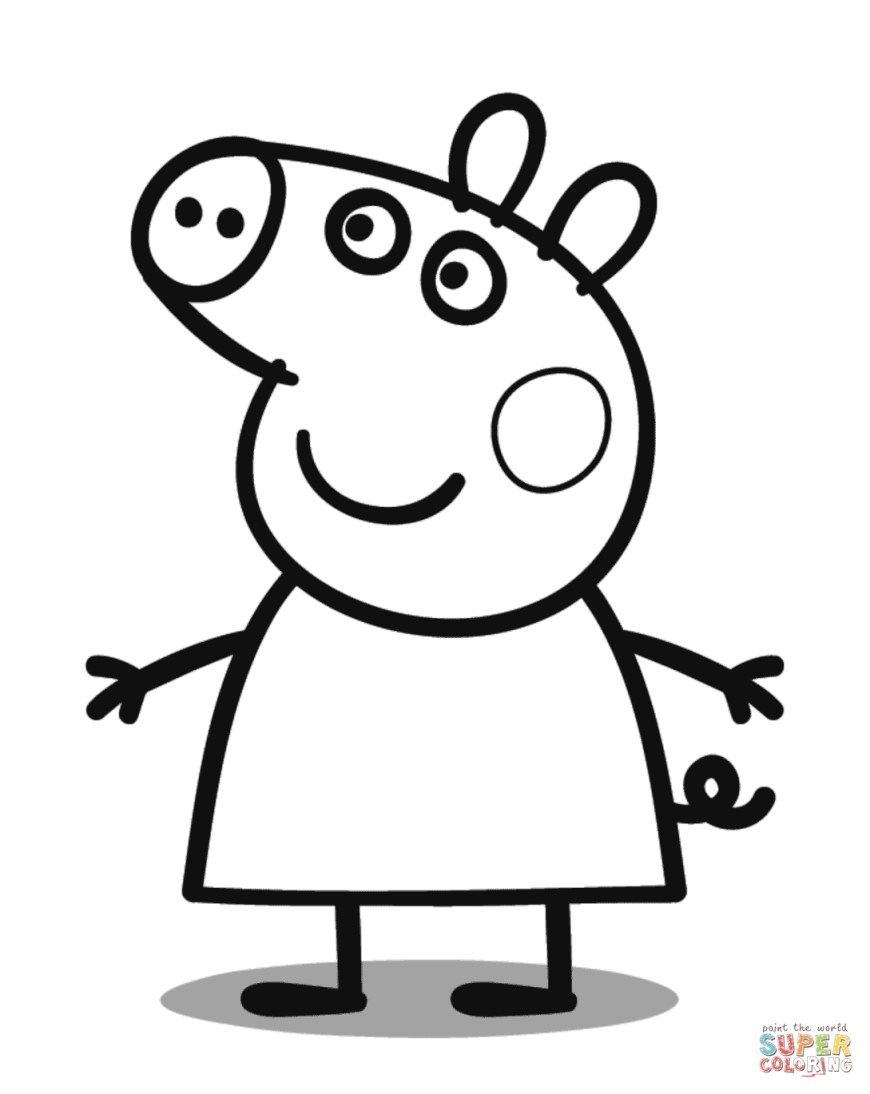 Pig Coloring Page Peppa Pig Coloring Page Free Printable Coloring Pages