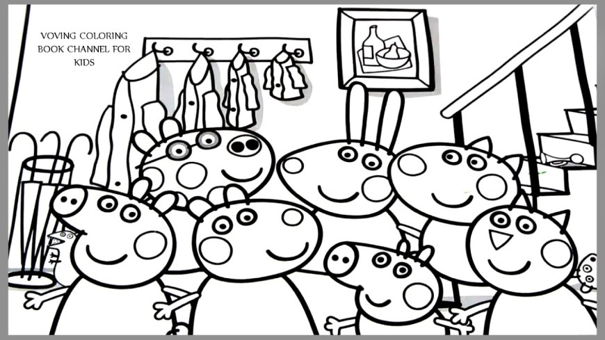 Pig Coloring Page Peppa Pig Coloring Page Peppa Pig And Friends Coloring Book Coloring
