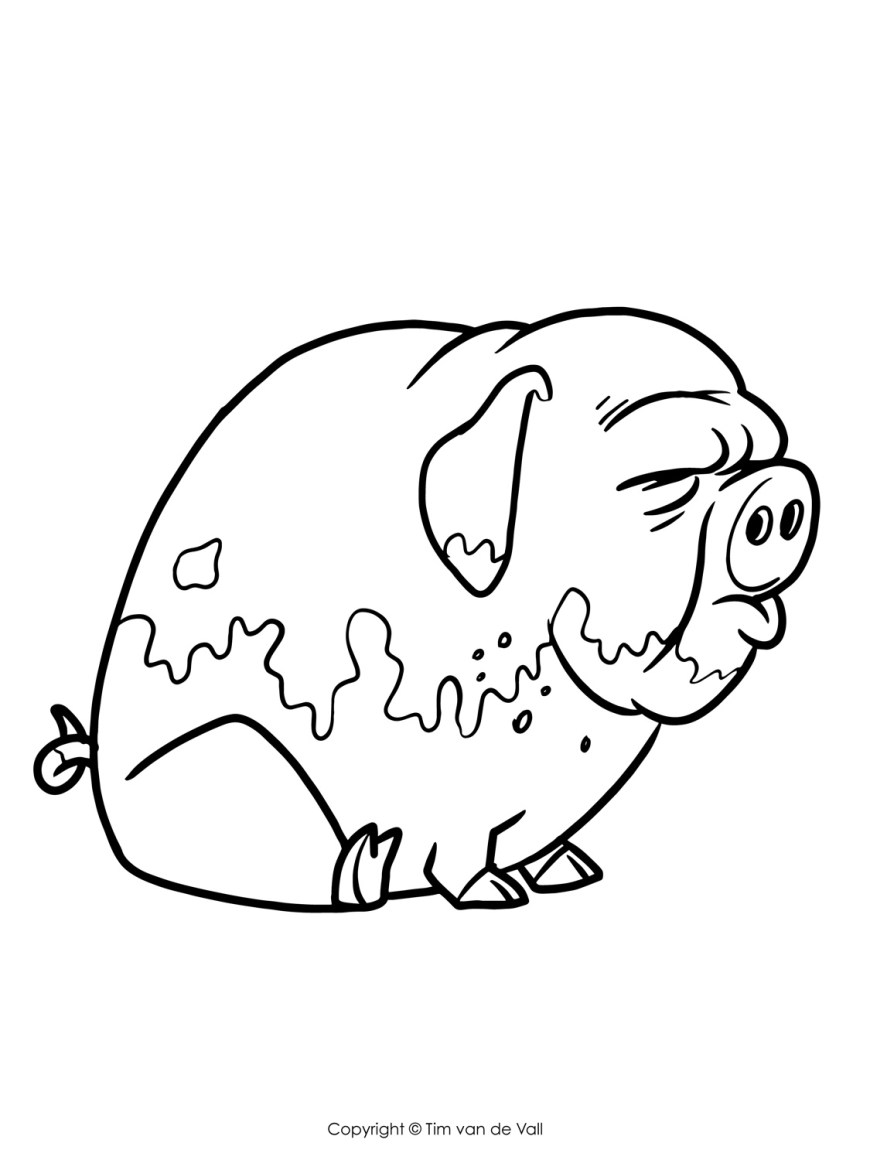 Pig Coloring Page Pig Coloring Pages Adult Pig Coloring Pages Printable Coloring