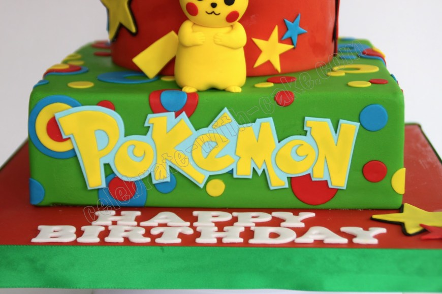 Pikachu Birthday Cake Celebrate With Cake Pikachu Pokemon Cake