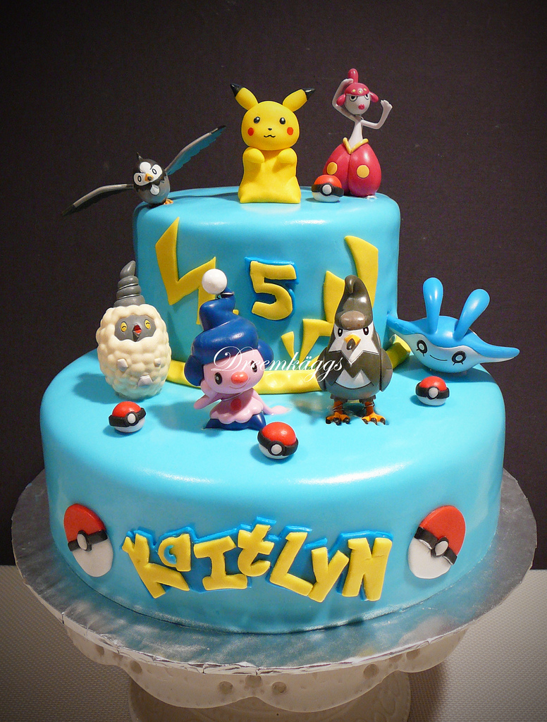 Pikachu Birthday Cake Kaitlyns Pokemon Birthday Cake Hand Molded Pikachu Along Flickr