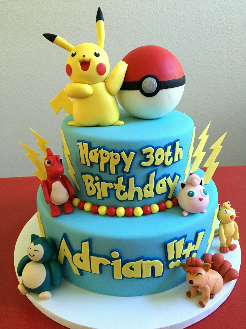 Pikachu Birthday Cake Pin Cake Couture Love On Custom Cakes Pinterest Pokemon