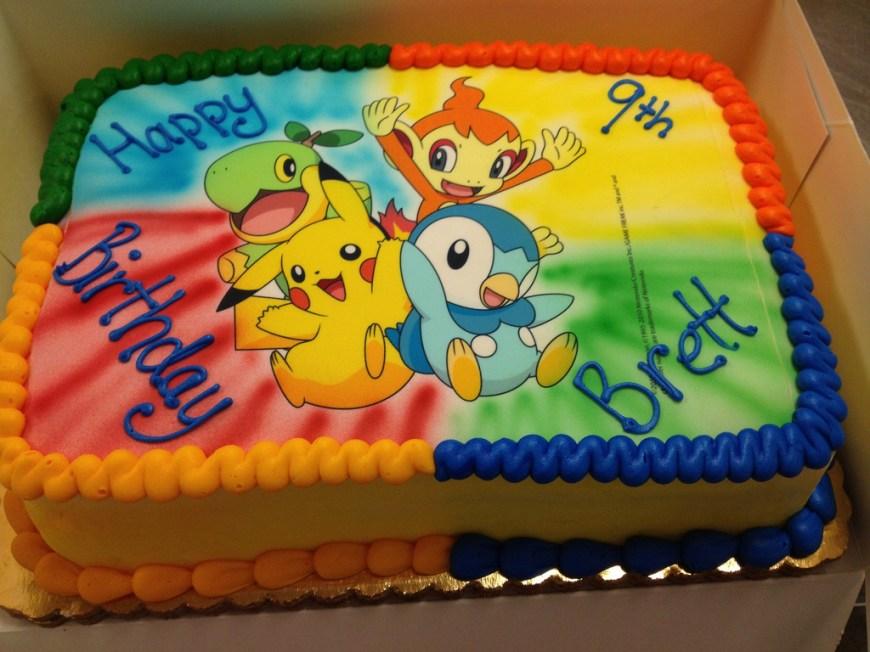 Pikachu Birthday Cake Pokemon Birthday Cakes