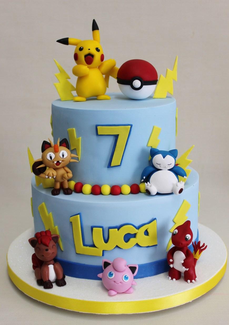 Pikachu Birthday Cake Pokemon Go Cake Violeta Glace Cakes Cupcakes Ect Pinterest