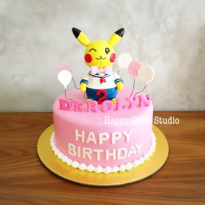 Pikachu Birthday Cake Sweet Pikachu Cake For Derolyns 2nd Birthday Happy Cake Studio
