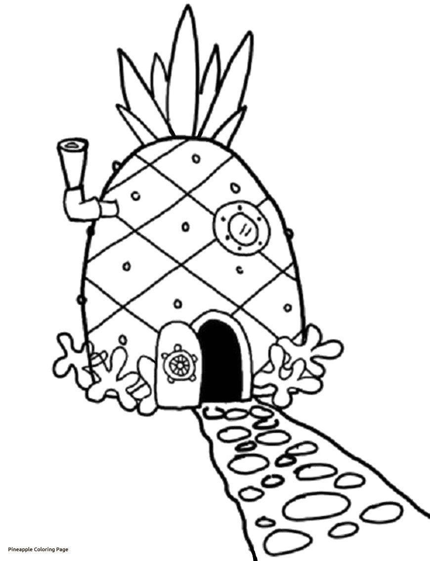 Pineapple Coloring Page Elegant Pineapple Coloring Page For Seasonal Colouring Pages With