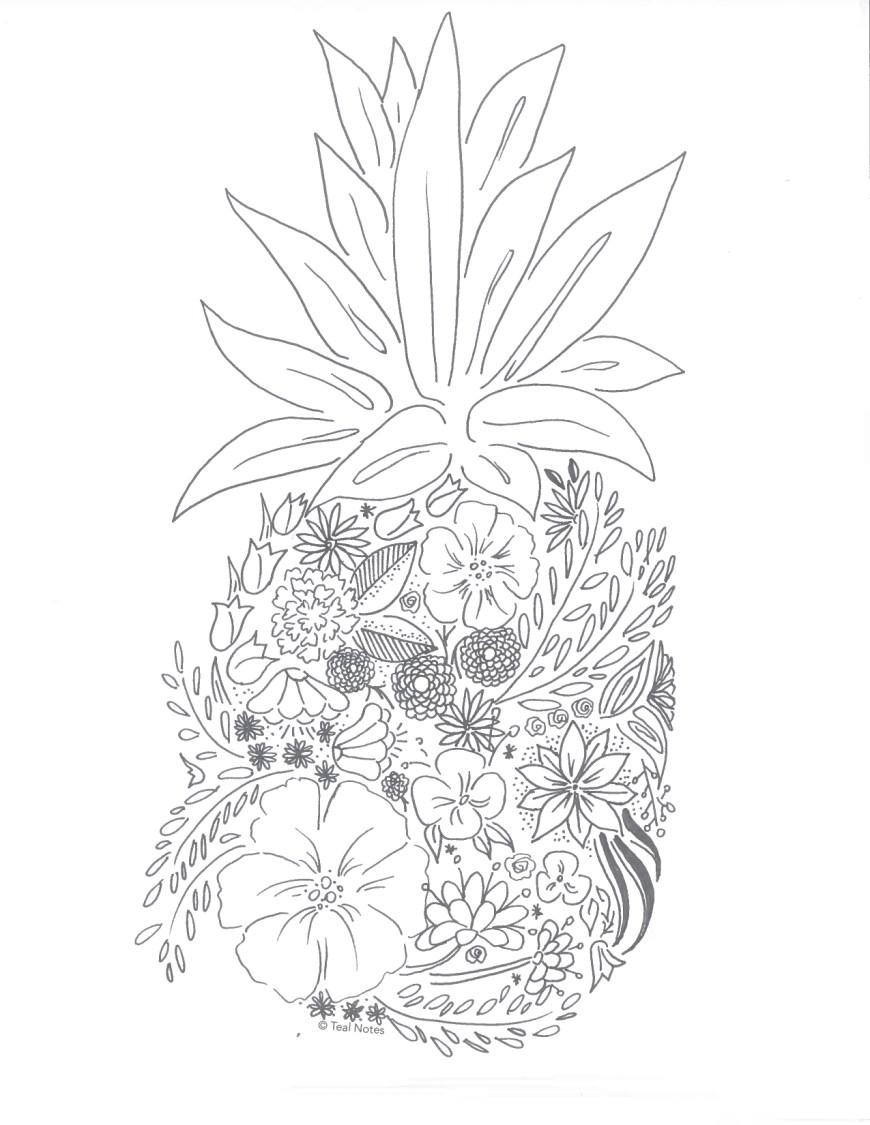 Pineapple Coloring Page Free Printable Coloring Pages 10 New Printable Coloring To Color