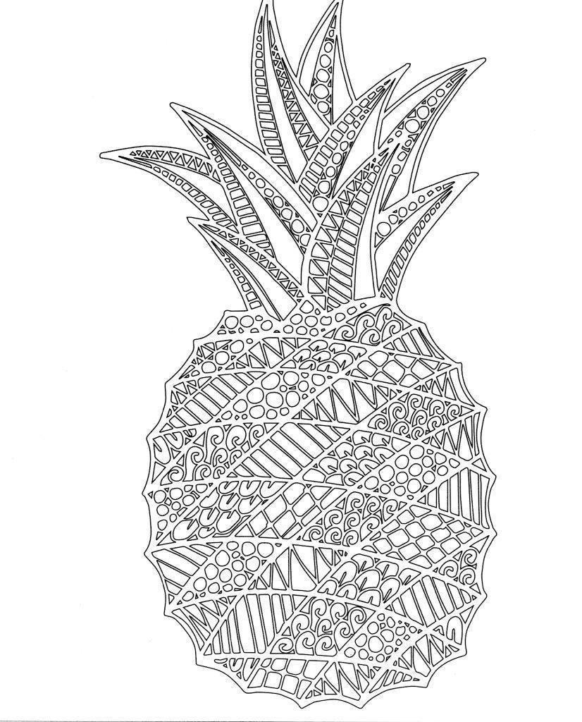 Pineapple Coloring Page Pineapple Coloring Page Lezincnyc