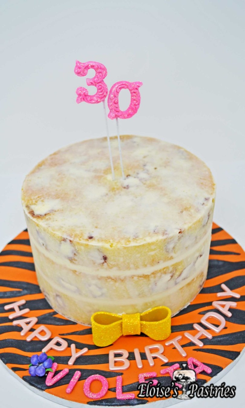 Pink And Gold Birthday Cake Birthday Cakes Gallery Eloises Pastries