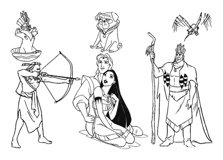 Pocahontas Coloring Pages Pocahontas For Kids Pocahontas Kids Coloring Pages