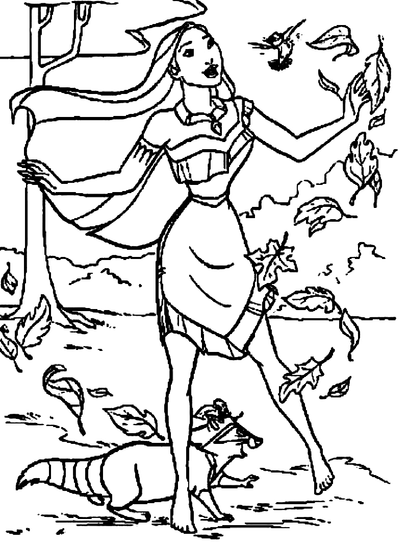 Pocahontas Coloring Pages Printable Pocahontas Coloring Pages Coloringme