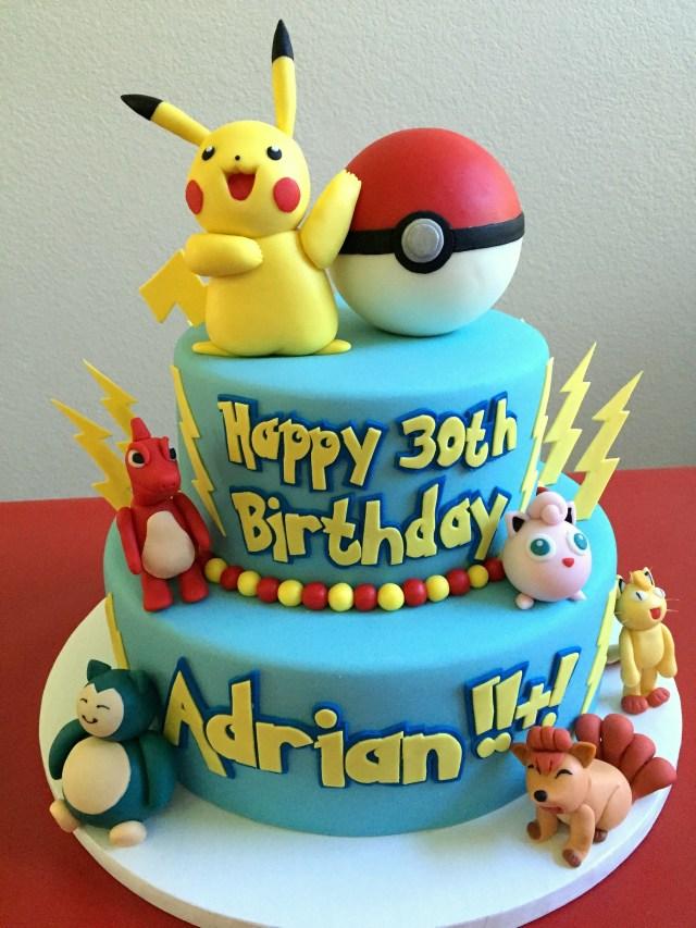 Pokemon Birthday Cake Pin Cake Couture Love On Custom Cakes Pinterest Pokemon