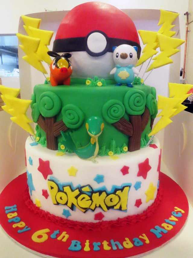 Pokemon Birthday Cake Pokemon 6th Birthday Cake Three Sweeties
