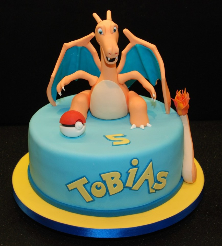 Pokemon Birthday Cake Pokemon Birthday Cake Featuring Charizard Cakecentral